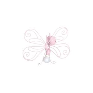Luminex Dětské nástěnné svítidlo Motýl 1xE27/60W růžová