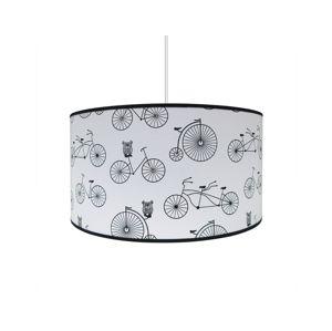 Lampdar Dětský lustr BIKE 1xE27/60W/230V bílá/černá