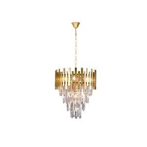 Milagro Křišťálový lustr na řetězu ASPEN GOLD 9xE14/40W/230V