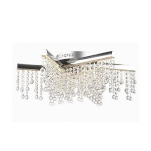 Auhilon LED Křišťálový přisazený lustr TORNERO LED/56W/230V chrom