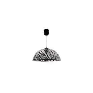 Helam Lustr na lanku AKRYL KS 1xE27/60W čirá+černá struktura