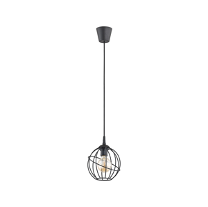 TK Lighting Lustr na lanku ORBITA BLACK 1xE27/60W/230V