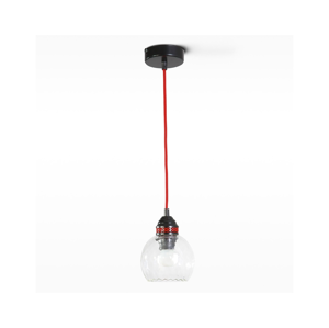 Light4home Lustr na lanku SUSPENSION METAL 1xE27/60W/230V červený