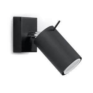 Sollux Nástěnné bodové svítidlo RING 1xGU10/40W/230V černá