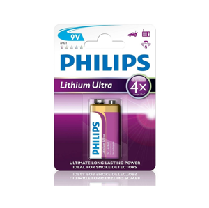 Baterie Philips Lithium Ultra 9V 1ks