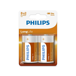 Baterie Philips LongLife D 2ks