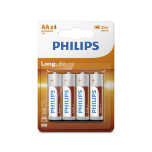 Baterie Philips LongLife AA 4ks