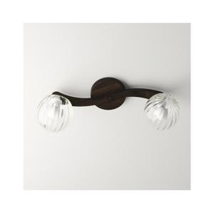 Light4home Přisazený lustr PLEIADA 2xE14/40W/230V tmavé dřevo
