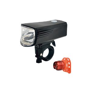 Baterie centrum SADA 2x LED Nabíjecí cyklosvítilna LED/5W/USB IP44