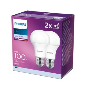 Philips SADA 2x LED Žárovka Philips A60 E27/12,5W/230V 4000K