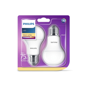 Philips SADA 2x LED žárovka Philips E27/11W/230V 2700K