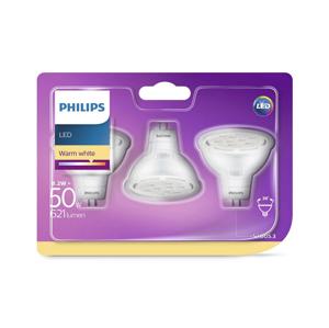 Philips SADA 3x LED Žárovka GU5,3/MR16/8,2W/12V 2700K