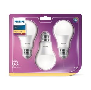 Philips SADA 3x LED Žárovka Philips A60 E27/8,5W/230V