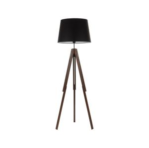 TK Lighting Stojací lampa LORENZO WOOD 1xE27/60W/230V černá